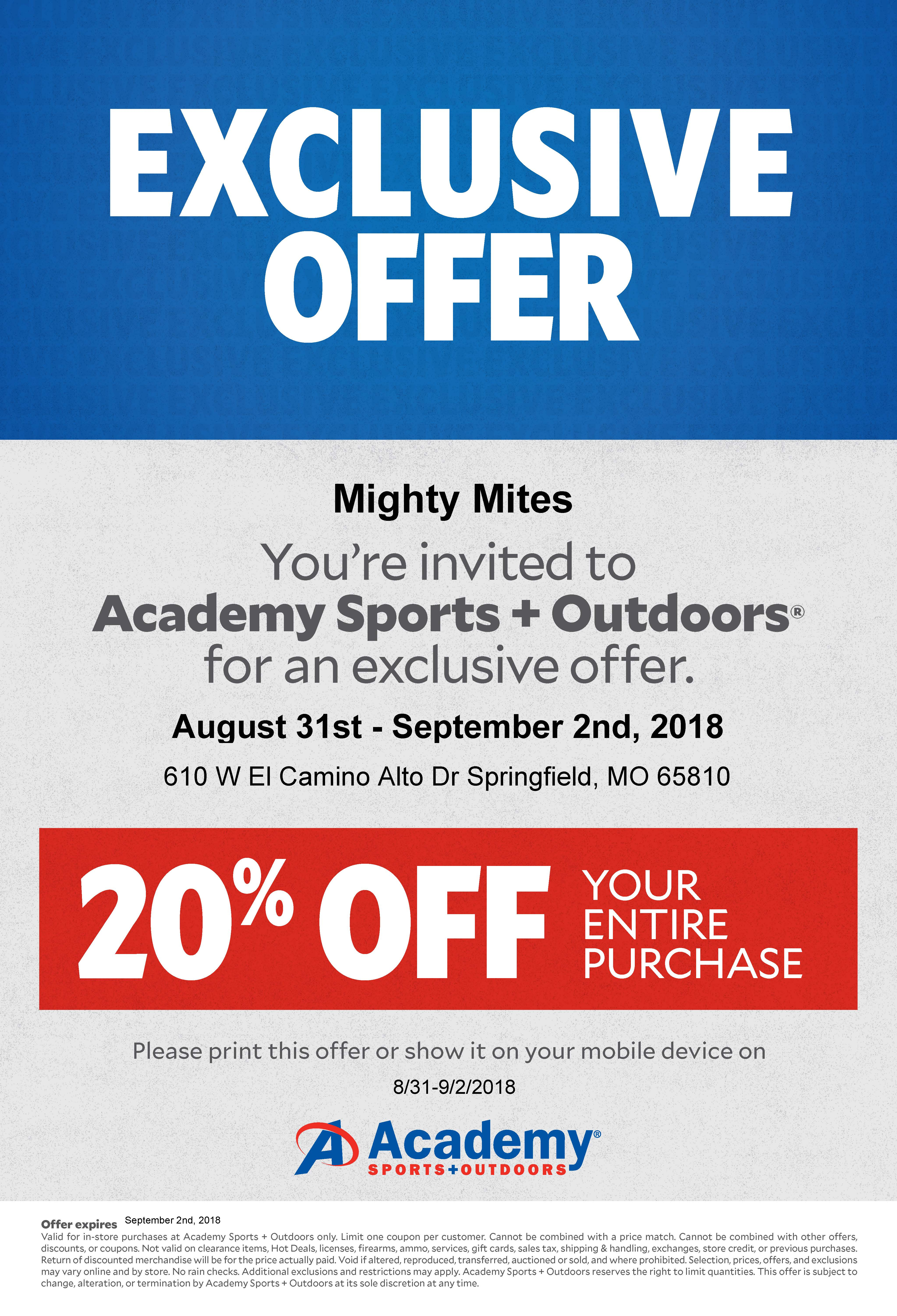 coupon for academy sports 2019
